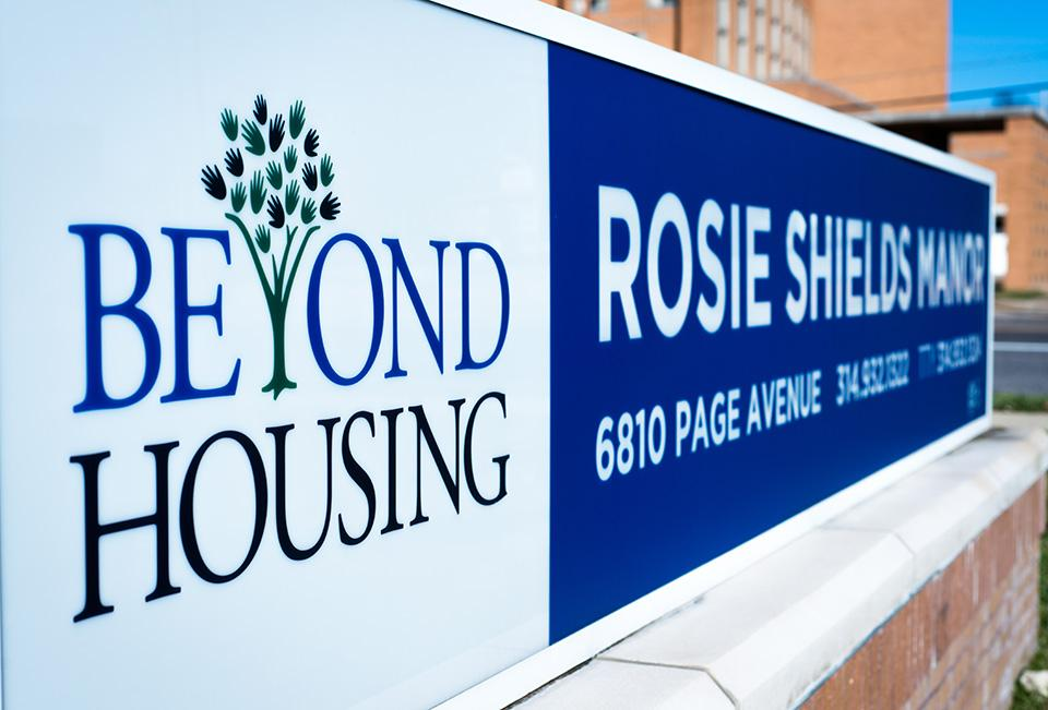 Senior Housing - Rosie Shields Sign